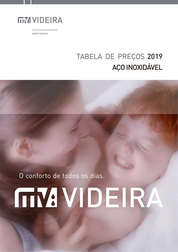 Videira - Tabela 2019 Aço Inoxidável