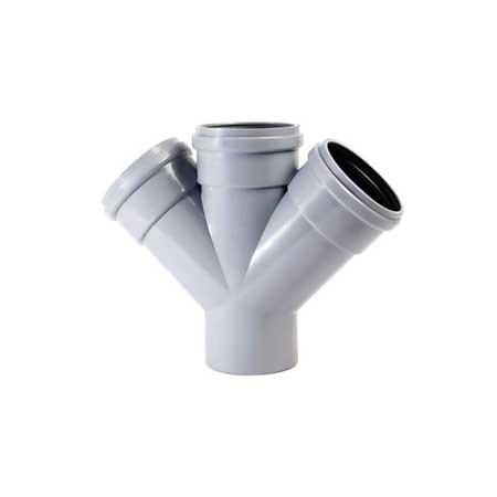 Forquilha Dupla PVC Redução Din