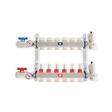 Proteu® Colector 4 Circuitos Inox p/Piso Radiante