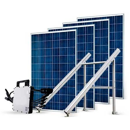 Proteu® Kit Fotovoltaico T.Plano 4 Paineis Autoconsumo