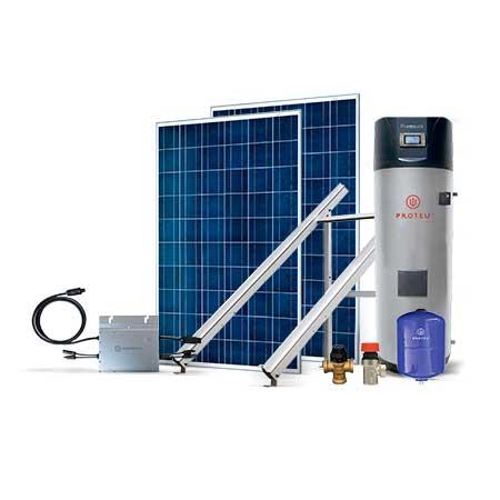 Proteu® Kit Fotovoltaico 2 Paineis C/Bomba de Calor 300 L