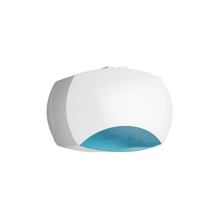Porta Rolos Industrial C/ Visor ABS Branco