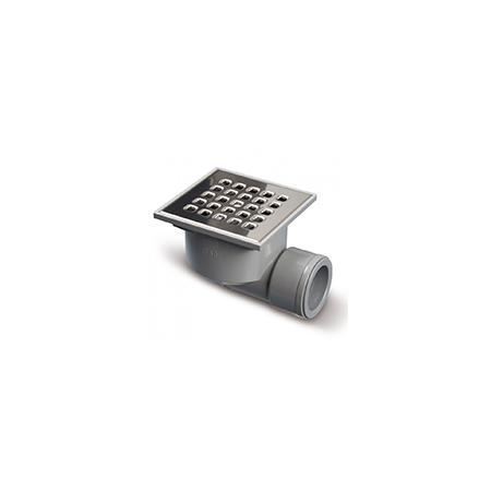 Jimten® S-191 Caixa Sifónica Inox Saída Horizontal 105 x 105